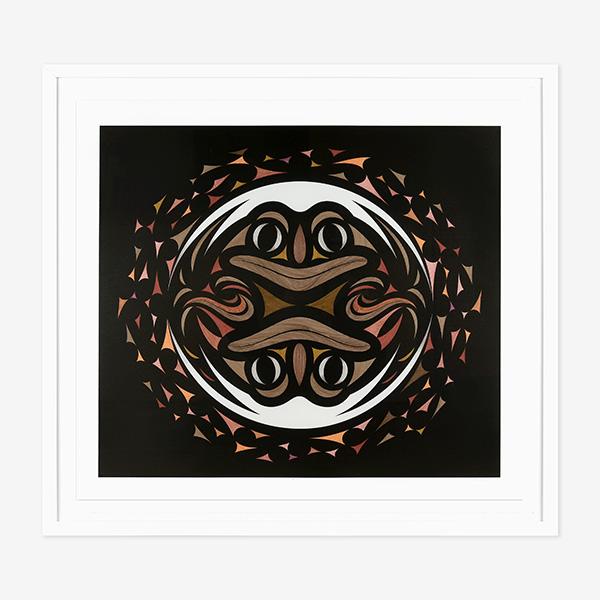 Framed Genesis Print by Northwest Coast Native Artist Susan Point