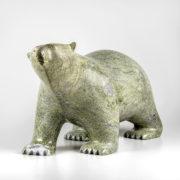 Stone Bear Sculpture by Inuit Native Artist Ashevak Adla
