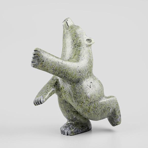 Stone Bear Sculpture by Inuit Native Artist Padlaya Qiatsuq
