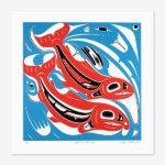 Salmon's Journey Print by Northwest Coast Native Artist Eugene Alfred