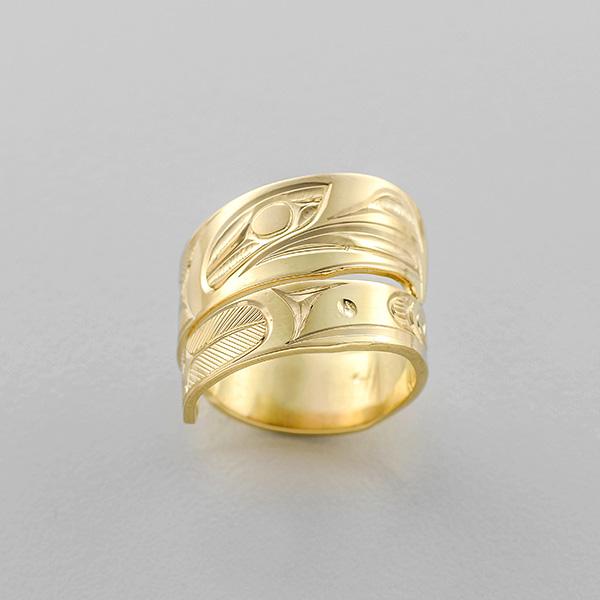Gold Eagle Wrap Ring by Northwest Coast Native Artist Corrine Hunt