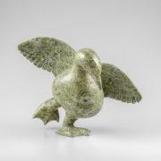 Stone Bird Sculpture by Inuit Native Artist Pudlalik Shaa