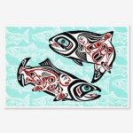 Salmon Dance IV Print by Northwest Coast Native Artist April White