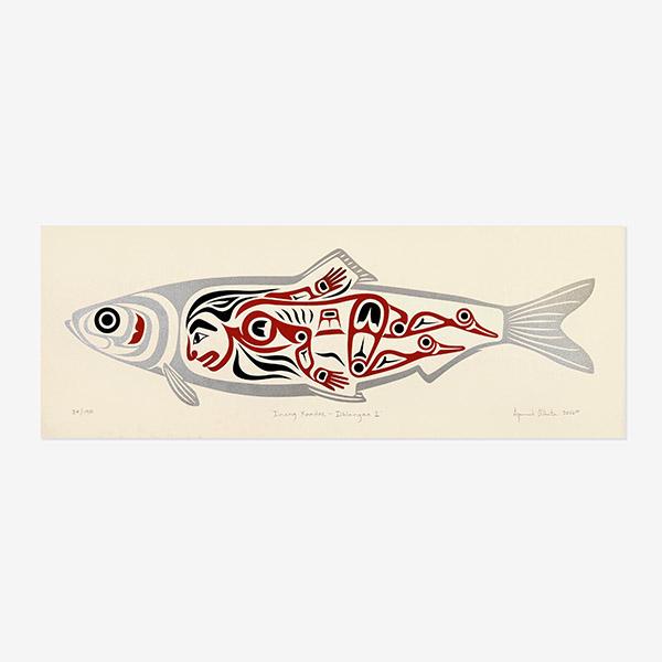 Iinang Xaadee Herring People - Iihlangaa Young Man I print by Native Artist April White