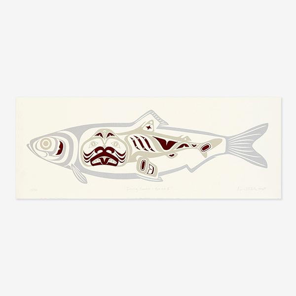 Iinang Xaadee Herring People - K'a.ad Dogfish II Print by Native Artist April White