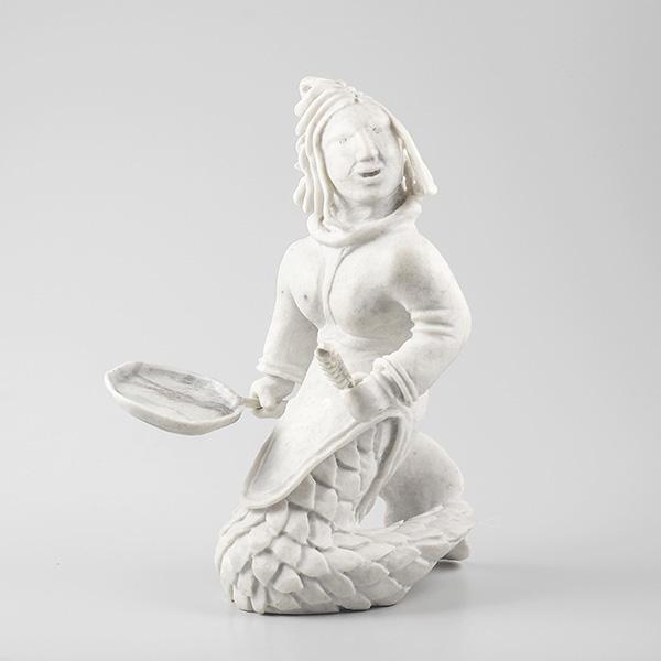 Stone Sedna Sculpture by Inuit Artist Bart Hanna