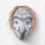Wood and Bark Eagle Mask by Northwest Coast Native Artist Kelly Robinson