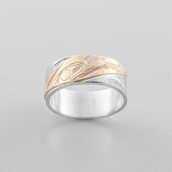 Gold Raven Ring by Northwest Coast Native Artist Corrine Hunt