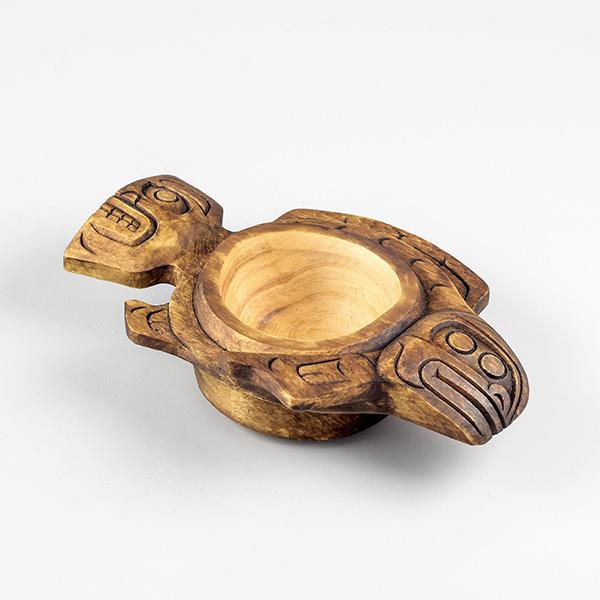 Wood Halibut Bowl by Northwest Coast Native Artist Shawn Karpes