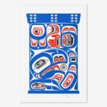 Serigraph Raven with Light Bentwood Box Print by Northwest Coast Native Artist David Neel