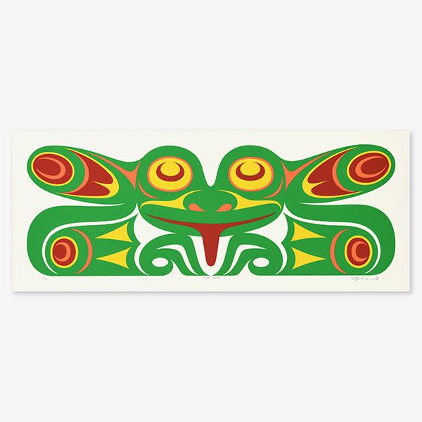Tree Frog Print by Northwest Coast Native Artist Maynard Johnny Jr.