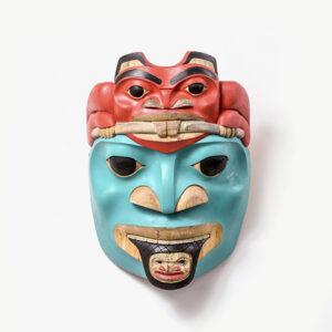 Wood Beaver Mask by Northwest Coast Native Artist Eugene Alfred