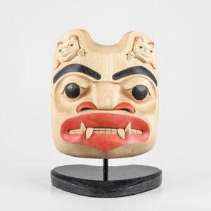 Wood Bear Mask by Northwest Coast Native Artist Eugene Alfred