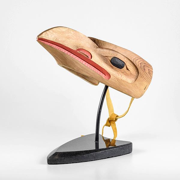 Wood Raven Mask by Northwest Coast Native Artist Eugene Alfred