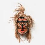 Wood, Bark, and Abalone Shell Grouse Mask by Northwest Coast Native Artist Shawn Karpes