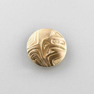 Gold Eagle Pendant by Northwest Coast Native Artist Corrine Hunt
