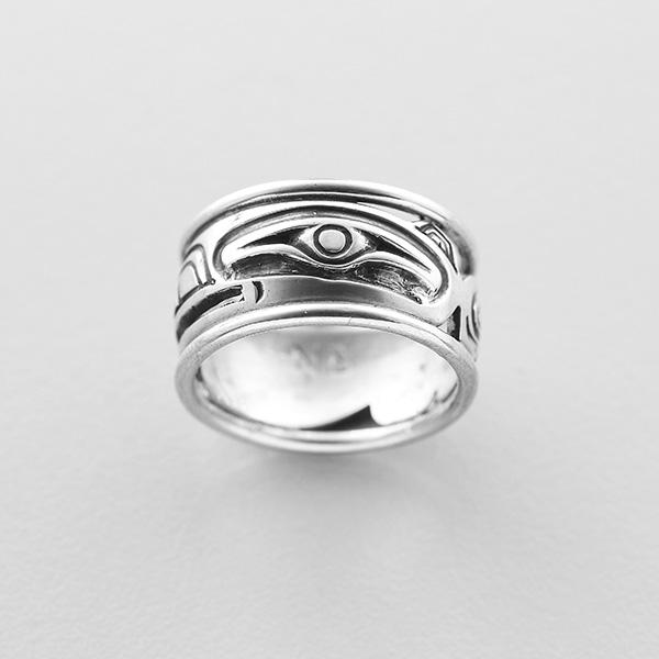 Silver Raven Ring by Northwest Coast Native Artist Norman Bentley