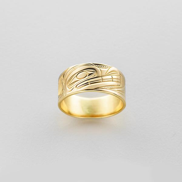 Gold Wolf Ring by Northwest Coast Native Artist Corrine Hunt