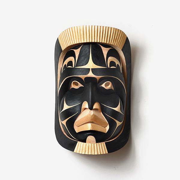 Wood Moon Mask by Northwest Coast Native Artist Kelly Robinson