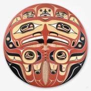 Wood Eagle, Salmon, and Human Panel by Northwest Coast Artist Doug Zilkie