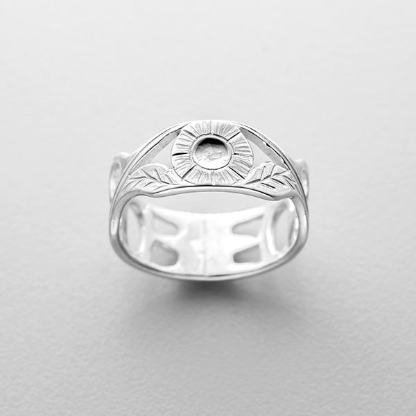 Silver Hummingbird Ring by Northwest Coast Native Artist Richard Russ