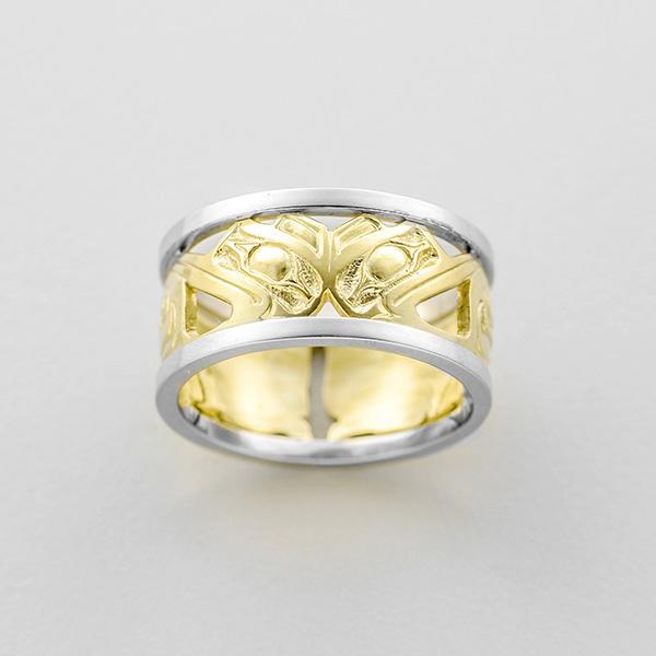 Gold Hummingbird Ring by Northwest Coast Native Artist Frank Paulson