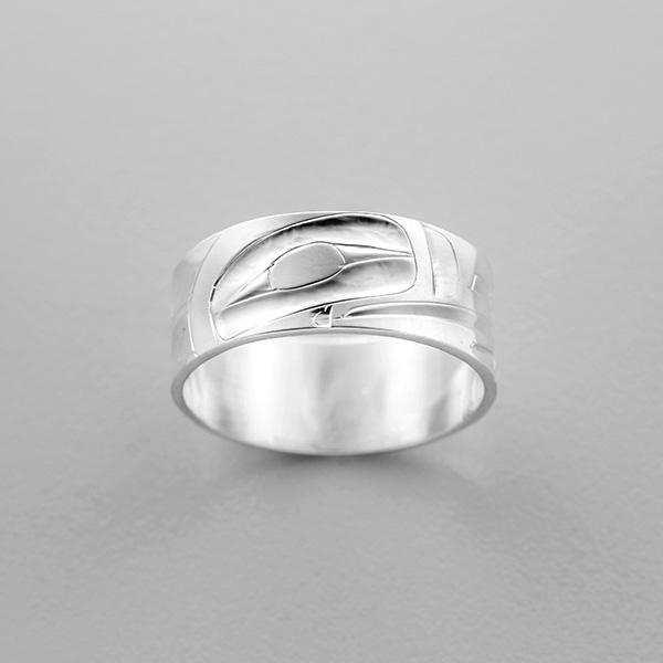 Silver Thunderbird Ring by Northwest Coast Native Artist Alvin Adkins