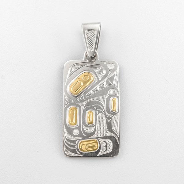 Gold Bear Pendant by Northwest Coast Native Artist David Neel