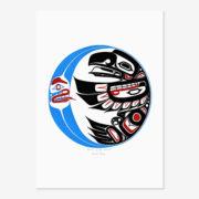 Raven in the Moon Original Painting by Northwest Coast Native Artist Darrel Amos