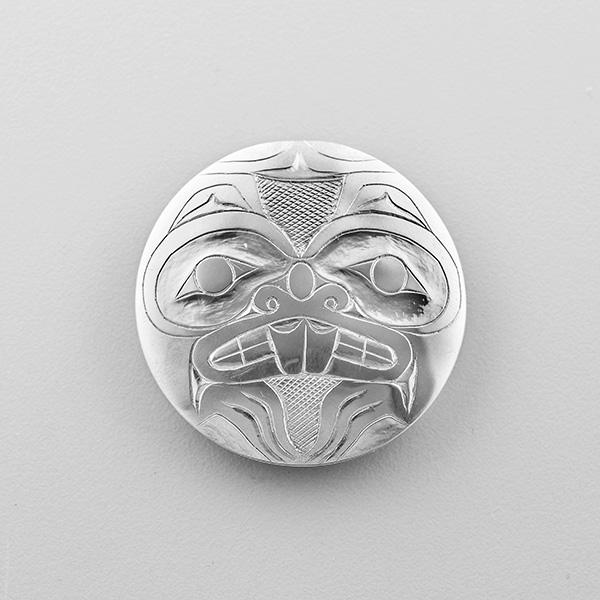 Silver Beaver Pendant by Northwest Coast Native Artist Gryn White