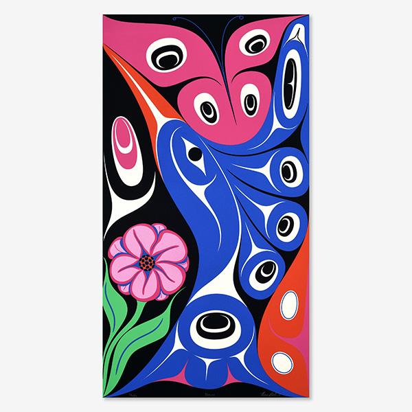 Kaayjuu (Hummingbird) Print by Northwest Coast Native Artist Ben Davidson