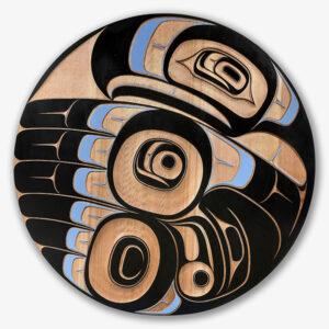 Wood Eagle Panel by Northwest Coast Native Artist Klatle Bhi