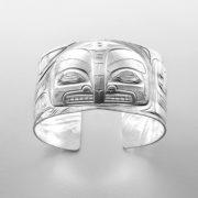 Silver Killerwhale Bracelet by Northwest Coast Native Artist Gus Cook