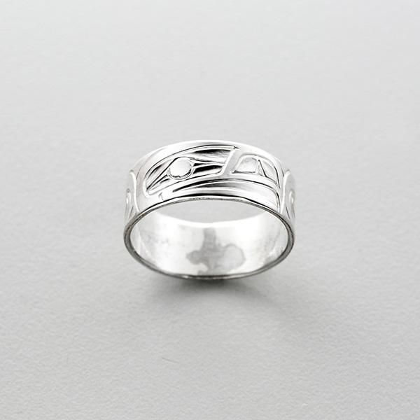 Silver Eagle Ring by Northwest Coast Native Artist Richard Russ
