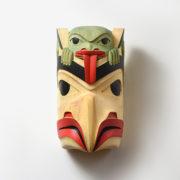 Wood Eagle and Frog Mask by Northwest Coast Native Artist Wilf Sampson