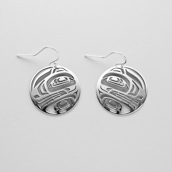Silver Bear Earrings by Northwest Coast Native Artist Trevor Angus
