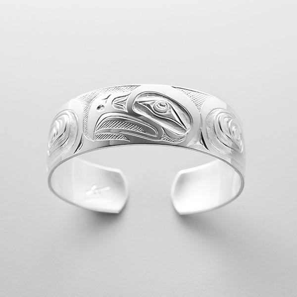 Silver Eagle Bracelet by Northwest Coast Native Artist Kelvin Thompson