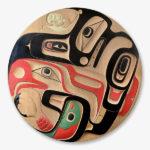 Wood Eagle, Killerwhale, and Salmon Panel by Northwest Coast Native Artist Jay Simeon