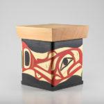 Wood Salmon Bentwood Box by Native Artist Joseph Campbell