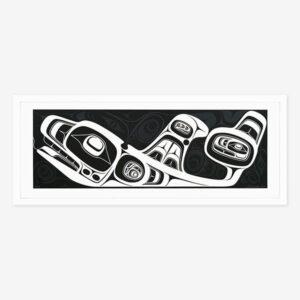 Framed Tang.Gwaan Print by Northwest Coast Native Artist Cori Savard