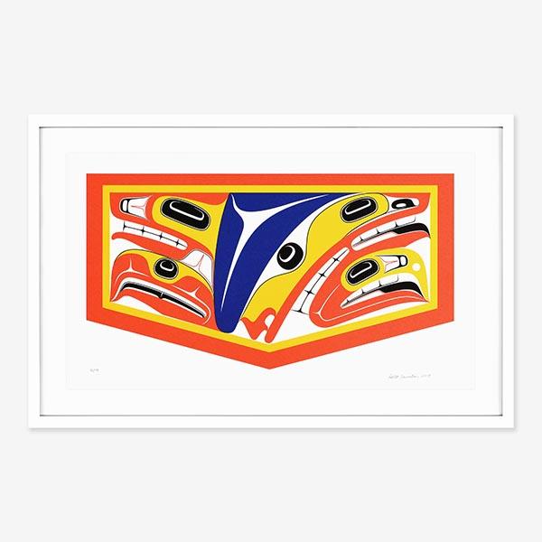 Framed Supernatural Beings Print by Northwest Coast Native Artist Robert Davidson