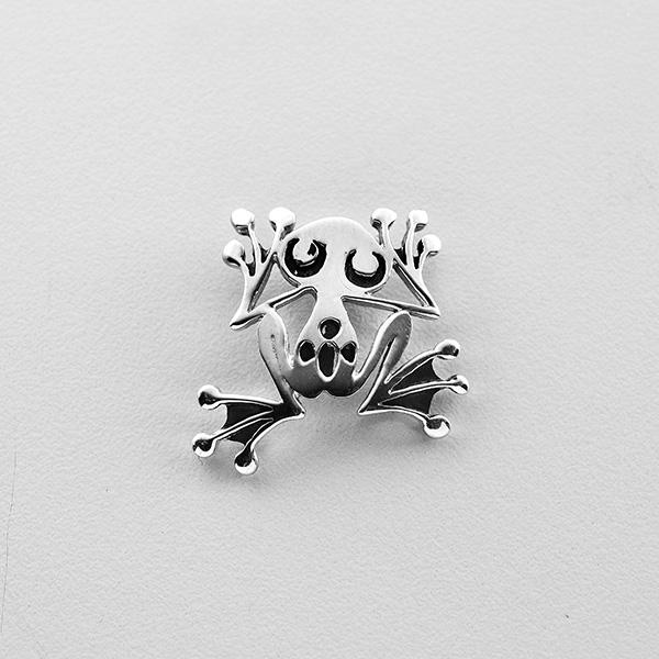 Silver Frog Pendant by Northwest Coast Native Artist Wayne Wilson