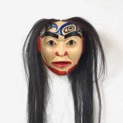 Wood Portrait Mask by Northwest Coast Native Artist Vernon Joseph White