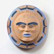 Wood Moon Mask by Northwest Coast Native Artist Klatle Bhi