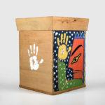 Wood Ceremonial Bentwood Box by Native Artist Joe David