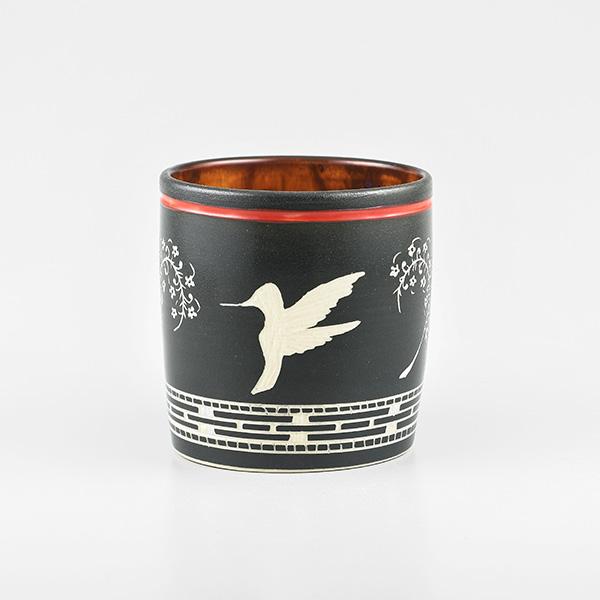 Porcelain Hummingbird Vase by Northwest Coast Native Artist Patrick Leach