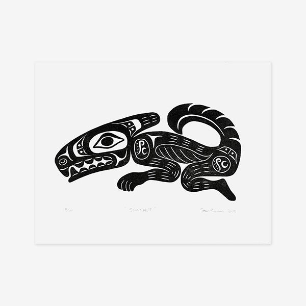 Spirit Wolf Print by Northwest Coast Native Artist Stan Bevan