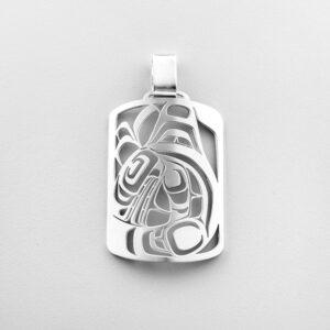 Silver Killerwhale Pendant by Northwest Coast Native Artist Trevor Angus
