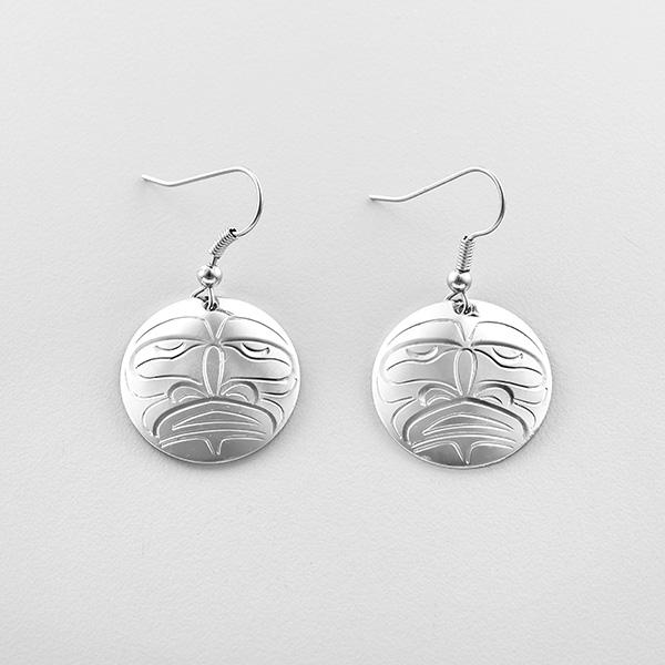 Silver Moon Earrings by Northwest Coast Native Artist John Lancaster