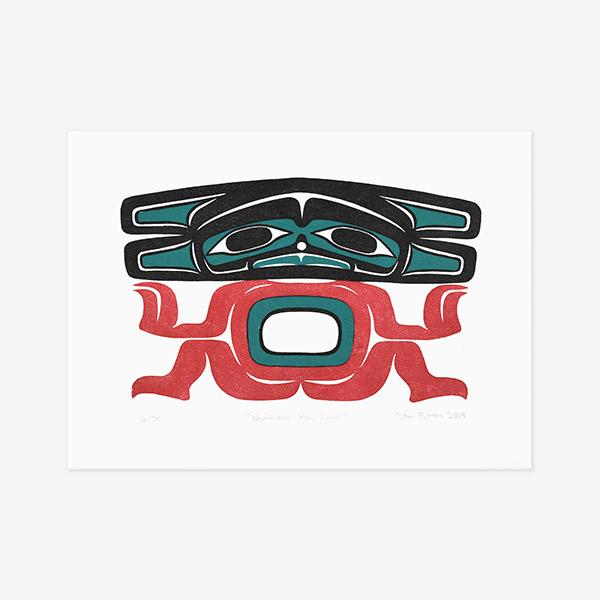 Northern Man Print by Northwest Coast Native Artist Stan Bevan